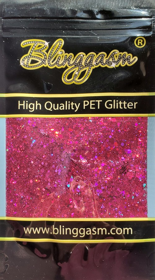 Chunky Mix Solvent Resistant Blinggasm Polyester Glitter 1.75 oz By Weight  #23 LB912 MEI HOLOGRAPHIC