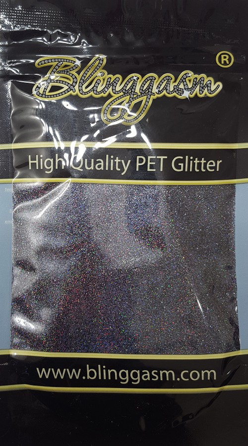 Holographic Solvent Resistant Blinggasm Polyester Glitter 3.5 oz By Weight .008 Or .015 Choose Size From Menu #24 LB1000 GUNMETAL