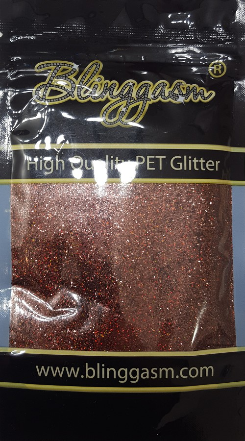 Holographic Solvent Resistant Blinggasm Polyester Glitter 3.5 oz By Weight .008 Or .015 Choose Size From Menu #10 LB406 COFFEE