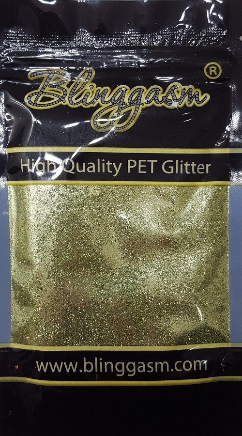 Metallic Solvent Resistant Blinggasm Polyester Glitter 3.5 oz By Weight .008 Or .015 Choose Size From Menu #28 B0600 APPLE GREEN