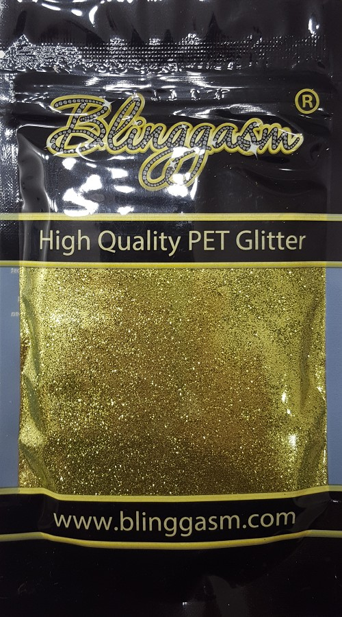 Metallic Solvent Resistant Blinggasm Polyester Glitter 3.5 oz By Weight .008 Or .015 Choose Size From Menu #29 B0601 YELLOW GREEN