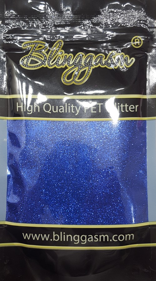 Metallic Solvent Resistant Blinggasm Polyester Glitter 3.5 oz By Weight .008 Or .015 Choose Size From Menu #48 B0715 ROYAL BLUE